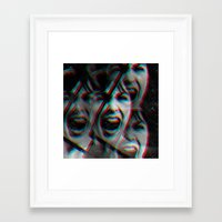 psycho Framed Art Prints featuring PSYCHO by Inception of The Matrix