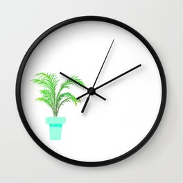 Palm Plant Wall Clock