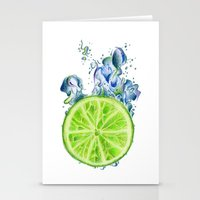 lemon Stationery Cards featuring Lemon by jausrine