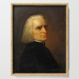 Franz Liszt (1811-1886) by Carl Ehrenberg in 1868 Serving Tray
