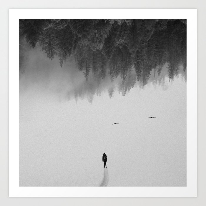 Discover the motif SILENT WALK by Andreas Lie as a print at TOPPOSTER