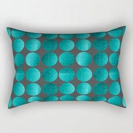 Emerald circles Rectangular Pillow