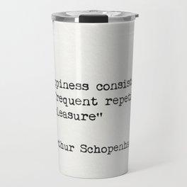 Arthur Schopenhauer quote Travel Mug
