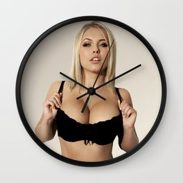 sexy ass babe pinup beach boobs girl chick sexy hot nasty tits nude naked bed mouth skirt hair wow Wall Clock