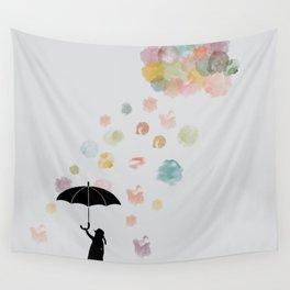 Colorful snow in Winter Wall Tapestry