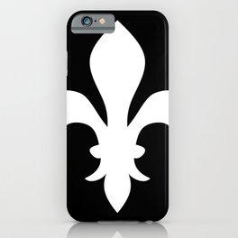 Fleur de Lis (White & Black) iPhone Case