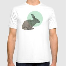rabbit Mens Fitted Tee White MEDIUM
