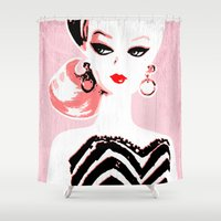 barbie Shower Curtains featuring Classic Barbie by Gigglebox