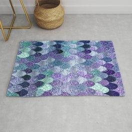 SUMMER MERMAID  Purple & Mint by Monika Strigel Rug
