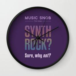 Synth Rock — Music Snob Tip #069 Wall Clock