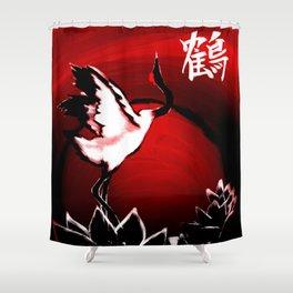 Japanese Crane Shower Curtain