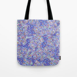 Purple Spiral Tote Bag