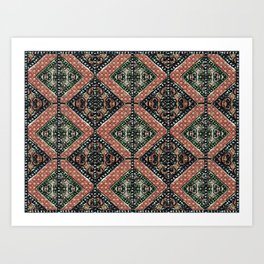 Geometric Decorative Motif Art Print