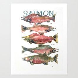Salmon Salmon Salmon Art Print