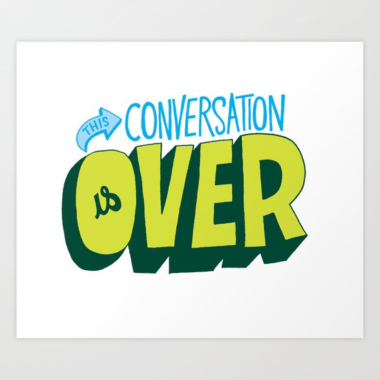 Conversation Over Art Print