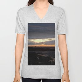 Sunset on the St-Lawrence Unisex V-Neck