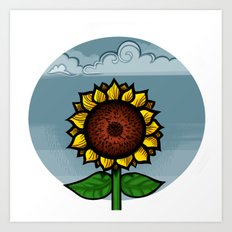 kitschy sunflower Art Print