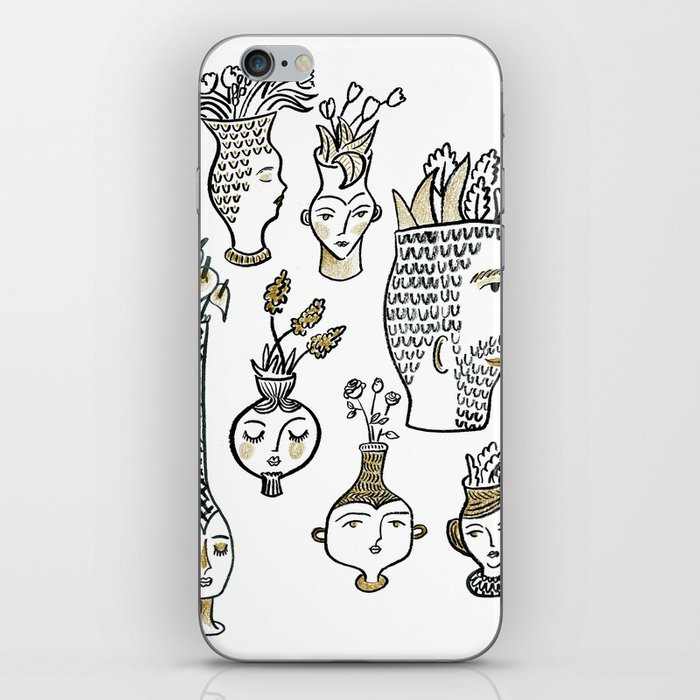 Clay Faces iPhone Skin