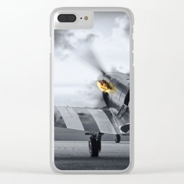 Spitting Fire Clear iPhone Case