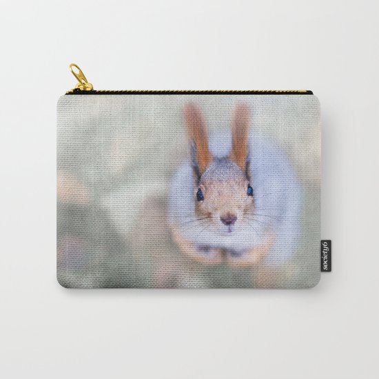 Squirrel looks at you from the bottom up Carry-All Pouch