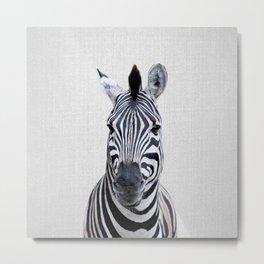 Zebra - Colorful Metal Print
