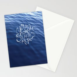 You Spoke the Earth into Motion Stationery Cards