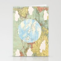 world maps Stationery Cards featuring Off The Maps by Grace M