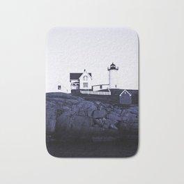 Navy Blue Lighthouse Bath Mat