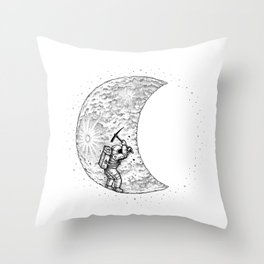 Lunar Excavation Throw Pillow