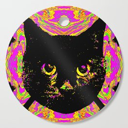 Purple Streak Quad Cat Cutting Board