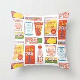 Asian Snacks Throw Pillow