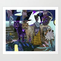 "entourage Art Prints featuring ""Entourage"" by Cam Floyd Illustration"
