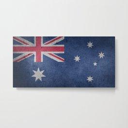 Vintage Grunge Australia Flag Metal Print