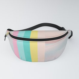 Pink Desert Moments - Pastel Landscape Design Fanny Pack