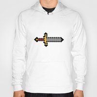 sword Hoodies featuring Pixel Sword... by Totally Glitching