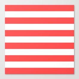 Coral Stripes Canvas Print