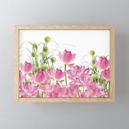 Field of Lotos Flowers Framed Mini Art Print