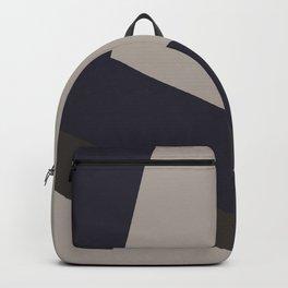 Dark Blue and Grey on Light Grey Asymmetrical Backpack