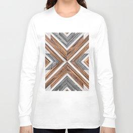 Urban Tribal Pattern No.4 - Wood Long Sleeve T-shirt