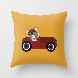 Koala Racer Throw Pillow