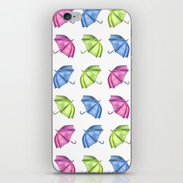 Colorful Umbrella Pattern iPhone Skin
