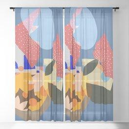 A Town In Manhattan Sheer Curtain