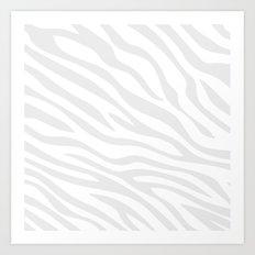 Zebra Whiteout Art Print