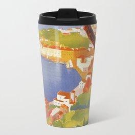Ischia Island Italy summer travel ad Travel Mug