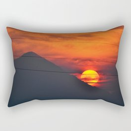 SUNSET OVER MOUNT HOOD Rectangular Pillow