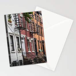 Picturesque street view in Greenwich Village, New York Stationery Cards