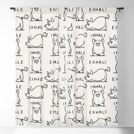 Inhale Exhale Pig Blackout Curtain