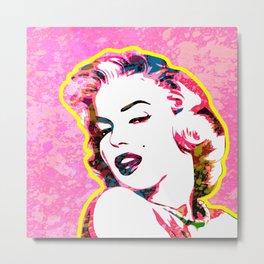 Marilyn | Splatter Series | Monroe | Pop Art Metal Print