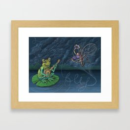 Frog & Fly: By Bradley Rabkin Golden Framed Art Print