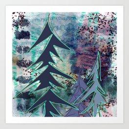 Mixed Media - Trees - Digital Artwork Art Print